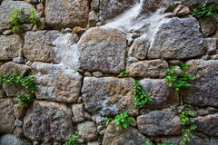 Old wall texture large stone. Nature. Royalty Free Stock Images