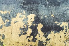 Old wall texture.Surface with peeling  of tar.  Black and white Royalty Free Stock Photos
