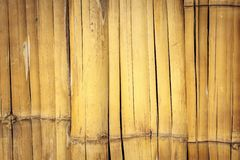 Old wall from the tied up wooden planks. Stock Photo