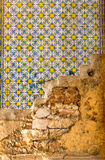 Old wall with tile Royalty Free Stock Image