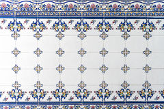 Old wall tiles azulejos. Portugal. Royalty Free Stock Photo