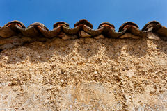Old Wall with Tiles Royalty Free Stock Photography