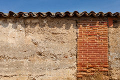 Old Wall with Tiles Stock Photography