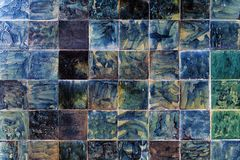 Old wall tiles made of natural stone Stock Photography