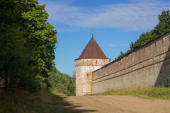 Old wall with towers in fort Royalty Free Stock Photo