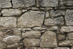Old wall of travertine (calcareous tufa) Stock Photo