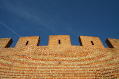 Old wall under sky Royalty Free Stock Images