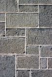 Old Wall of Uneven Stone Blocks Stock Photography