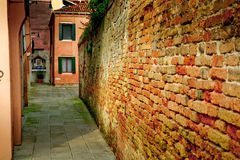 Old Wall in Venice Stock Photo