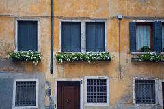 Old wall, Venice Italy Stock Images