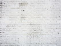 Old wall from white brick. Old painted wall from white brick background Royalty Free Stock Images