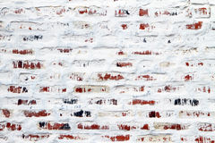 Old wall white color bricks Royalty Free Stock Images