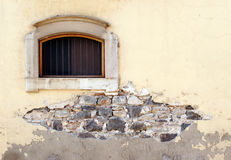 Old wall with window Royalty Free Stock Photo