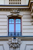 Old wall window  centre   of city lugano Switzerland Stock Photography