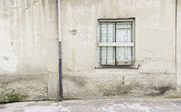Old wall with window Royalty Free Stock Photography