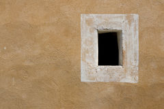 Old wall with window frame, Provence France Royalty Free Stock Images