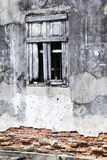 Old wall with window Stock Images
