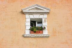 Old wall with window. Royalty Free Stock Photos