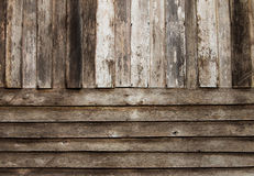 Old Wall Wood Stock Photo