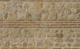 Brickwork in the old wall. Royalty Free Stock Photography