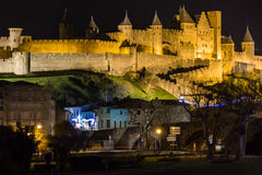 Old walled citadel. Carcassonne. France Stock Photos
