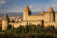 Old walled citadel. Carcassonne. France Royalty Free Stock Photography