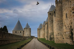 Old walled citadel. Carcassonne. France Royalty Free Stock Photo