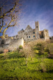 Old walled citadel. Carcassonne. France Stock Photography