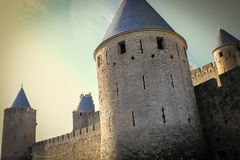 Old walled citadel. Carcassonne. France Royalty Free Stock Image