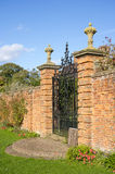 Old walled elizabethan garden packwood house stately home warwic Royalty Free Stock Photos