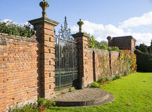 Old walled elizabethan garden packwood house stately home warwic Royalty Free Stock Image