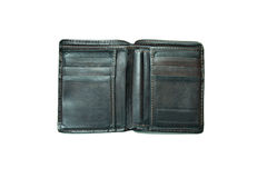 Old wallet. Old wallet on a white background Royalty Free Stock Photo
