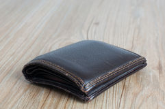 Old wallet. On the floor with detail Stock Image