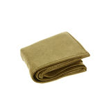 Old wallet isolated on white background. Royalty Free Stock Image