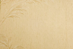 Old Wallpaper Background With Feather Border Royalty Free Stock Image