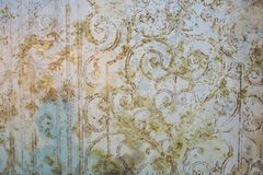 Old wallpaper with old flower design
