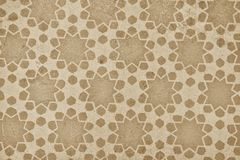 Old wallpaper with star pattern stock images