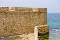 Old walls of Acre, Israel Stock Images