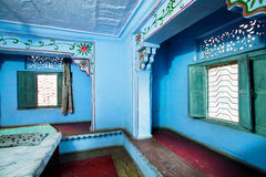 Old walls bedroom in an indian style Royalty Free Stock Photo