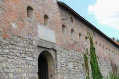 Old walls of Bernardine Church and Monastery in Lviv, Ukraine Stock Image