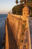 Old walls of Cadiz. At sunset. Cadiz, Andalusia, Spain Royalty Free Stock Photos