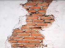 Old walls are cracked. Abstract backgrounds Royalty Free Stock Images