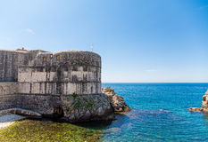 Old Walls of Dubrovnik Croatia on the Adriatic Royalty Free Stock Image