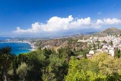 beautiful green mountain coast Stock Photos