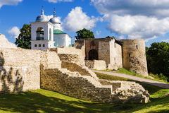 Old Walls In Izborsk, Russia Royalty Free Stock Image