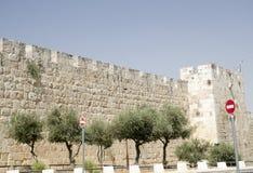 Old walls of Jerusalem. Israel. Tourism in Middle East Stock Image
