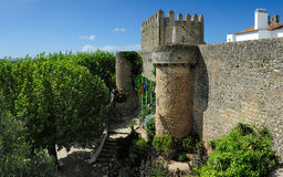 Old  walls, Obidos, Portugal Royalty Free Stock Image