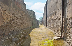 The old walls of Pompeii Stock Images