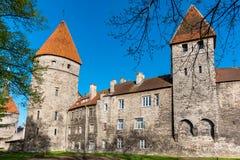 Old walls. Tallinn, Estonia Stock Images
