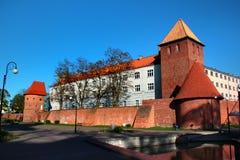 Old walls and towers in Braniewo, Warmian-Masurian Voivodeship, Poland royalty free stock image